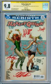 Harley Quinn #23 Variant CGC 9.8 Signature Series Signed x4 Conner Cho DC Movie comic